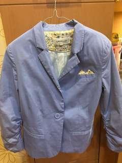 Bershka sky blue outerwear
