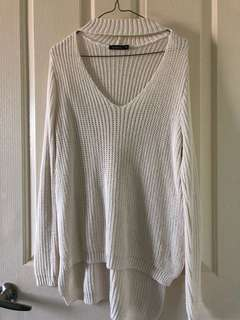 Oversized white/cream chocker knit