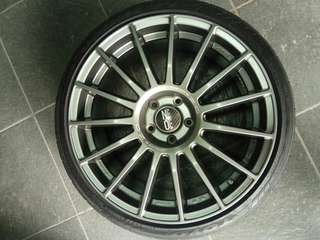 Velg Oz original R19 8,5 rata pcd 114/5 et 44 include ban