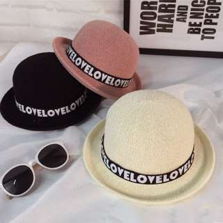*PO* Bowler Hat with Love Lettern