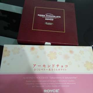 Royce chocolate from. Narita japan.