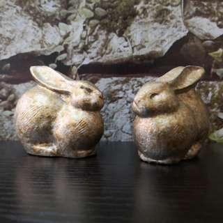 Rabbit figurine 1pairs