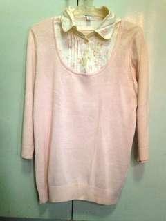 Blush Pink Floral Long Sleeves