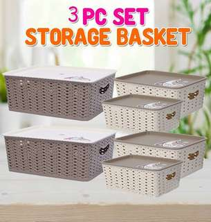 3PCS SET STORAGE BASKET