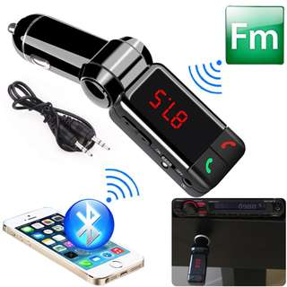 Wireless Car MP3 Player Bluetooth FM Transmitter Dual USB LCD Car Charger Kit - A0777