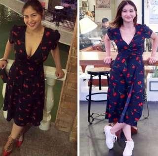 Cherry Wrap Dress 🍒