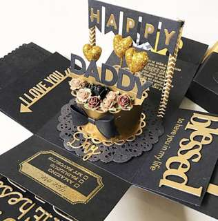 🚚 Happy daddy / father day Explosion Box card