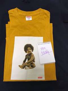 """SUPREME """"READY TO DIE"""" NOTORIOUS B.I.G. Biggie small"""