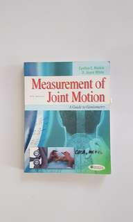 Physical therapy joint motion book