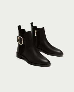 Zara Trafaluc Winter Chelsea Boots