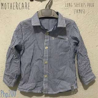 Mothercare Blue Long Sleeves Polo
