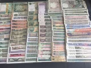 International Mixed Notes (100pcs) , UNC + Circulated, Price inclusive of Registered Mail Charges. Today's Best Deal !!!