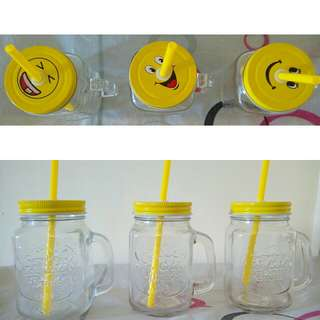 Emoji Mason Jar  (3pc)