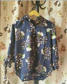 Basic shirt floral navy