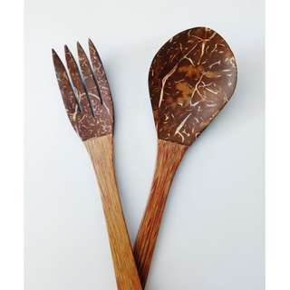 Coconut & Wood Utensils
