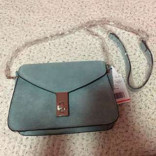 •brandnew• Mango Blue Suede Chain Bag