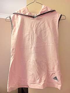 Adidas sleeveless top with hoodie size S