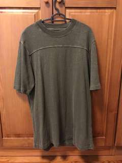Yeezy Season 3 Oversized College Slub Knit T Shirt (Olive)