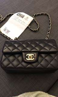 CHANEL mini 20 navy blue Lambskin
