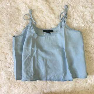 Forever 21 Chambray Cropped Top