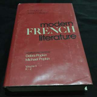 Modern French Literature - A Library of Literary Criticism, Volume II K-Z
