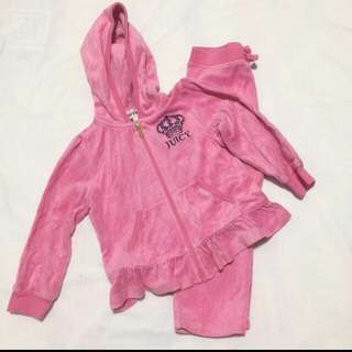 Juicy Couture Velour Ruffle Track Set