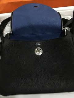Hermes Lindy 26 Black x Blue Agate