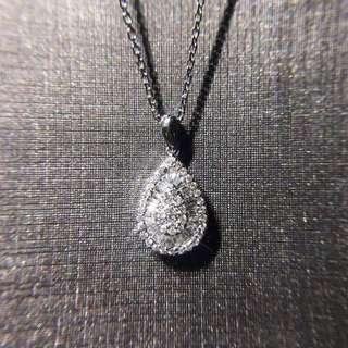 18K金群鑲鑽石吊墜(不含鏈)