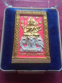 Thai Amulet Phra Phom on Phra Pikanet mass chanted in Wat Nok BE 2555 (made only 3998set)