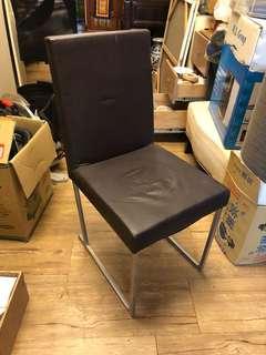 皮革 金屬 椅