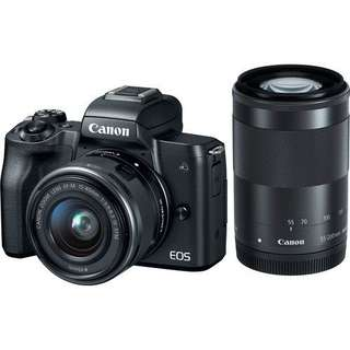 Canon EOS M50 Mirrorless with 15-45mm and 55-200mm (Black)