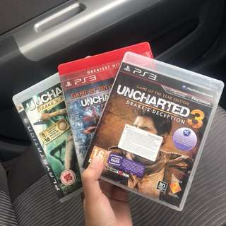 Uncharted Series (1-3) PS3 game
