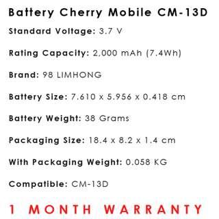 Cherry Mobile Battery CM-13D
