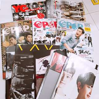 Epop and YG magazine with EXO poster