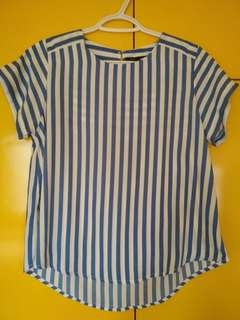 FORME Striped Blue and White Blouse Shirt