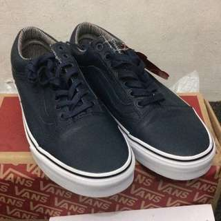 Vans Oldskool Leather Dress Blues Stripes
