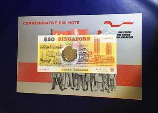 💥Singapore first polymer fifty dollar commemorate notes