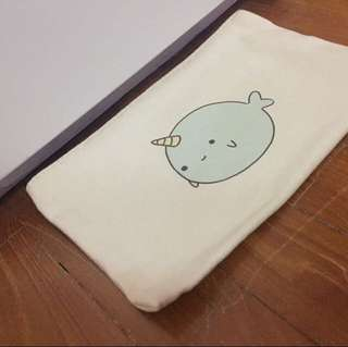 Narwhale Tote Pencil Case