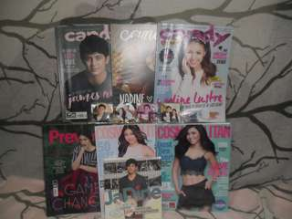 Jadine fan mags and scrapbook w/ free pins