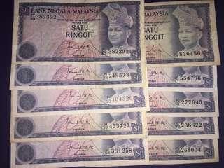 Malaysia RM1 (10pcs) , Circulated