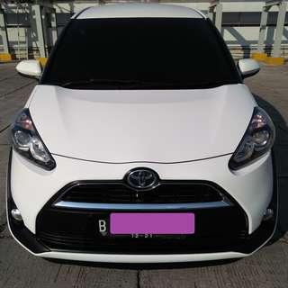 Toyota Sienta V TAhun 2016 Putih Metalik At Km 20 Ribu Full Orisinil Pajak Panjang