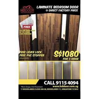 Full Solid Laminate Bedroom Door Bundle