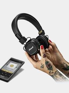 Original with Receipts - Marshall Major 2 Bluetooth Headphones