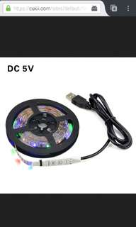 Plug N Play usb multi colour led 2m strip smd 3528