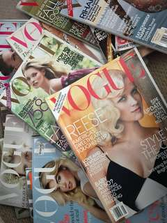 30+ VOGUE (USA/UK) magazines 2009-2015 + FQ, Marie's Claire or SELL individually