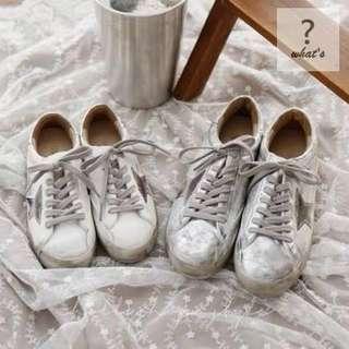 🚚 Korea👟 韓國GOLD STAR 刷舊綁帶休閒鞋
