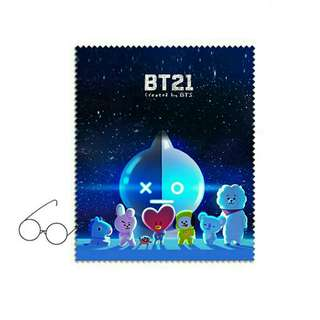 Bts Bt21 cleaning glases