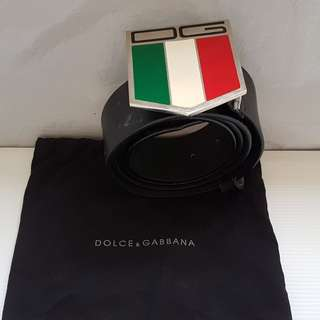Vintage D&G Belt and Buckle, Retro Dolce & Gabbana Fashion, Rare Dolce Gabbana Designer Belt and Buckle, Original, Italy, Authentic, New in Bag, Street Style, Hip Hop, Rock Star, Collectibles, Couture, Stylish, Italian Colours