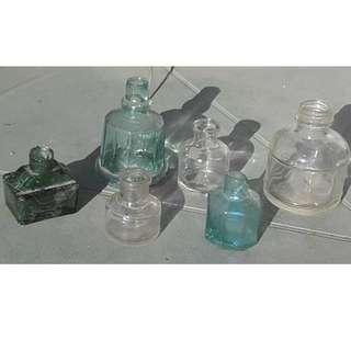 Little Glass Vintage Bottles - pending pick up