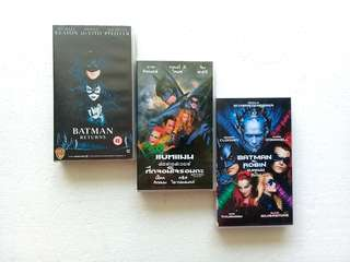Batman Movie Series VHS Video Tapes